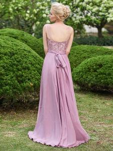 Scoop Neck Lace Zipper-up Floor-Length A-Line Bridesamid Dress (Dream-100056) pictures & photos