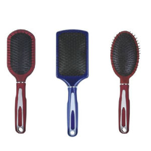 Hot Women Hairbrush Professional Heathy Paddle Cushion Hair Brush pictures & photos