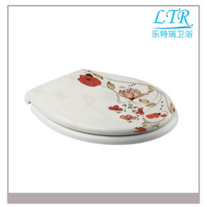 Quick Release Flower Pattern Decorated Toilet Seat pictures & photos