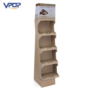 Portable Corrugated Paperboard Folding Shelves Display Racks pictures & photos