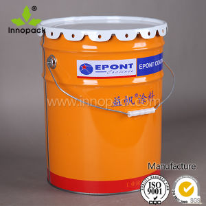 20 Liter Tin Bucket Chemical Paint Pail with Lid pictures & photos