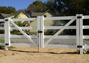 OEM Eco-Friendly Weather Resistant Outdoor Garden PVC Fence Gate pictures & photos