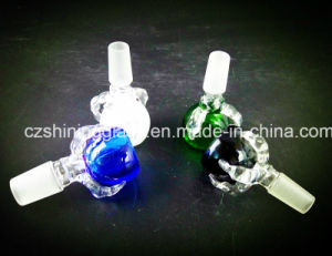 Male Joint 14.4mm Glass Dry Herb Bowls for Smoking pictures & photos