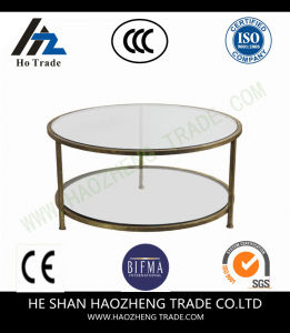 Hzct166 Smart Round Marble Top Coffee Table pictures & photos