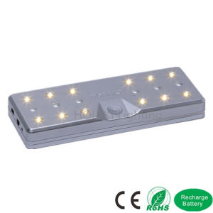 Sensor Magnetic Base LED Wardrobe or Kitchen Cabinet Light with Lithium Battery pictures & photos