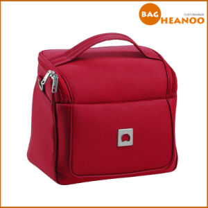 Square Red Tote Bags Cosmetic Bags Beauty Case Functional Bags pictures & photos