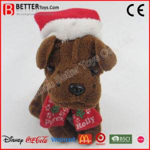 Chirstmas New Year Stuffed Plush Animal Dog Toy pictures & photos
