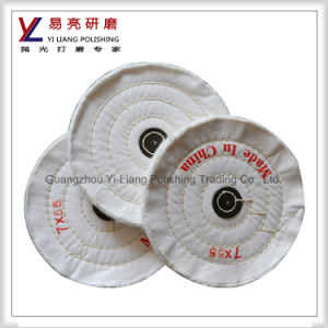 White Cotton Polishing Buffing Wheel for Watch Case and Hardwares Abrasive pictures & photos