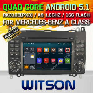 Witson Android 5.1 Car DVD for Mercedes-Benz a Class (W2-F9700E) pictures & photos
