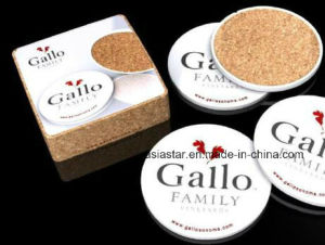 Round Square Full Color Printing Cork Coaster pictures & photos