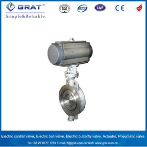 Pneumatic Alloy Seal Eccentric Butterfly Valve pictures & photos