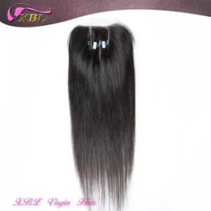 3 Parts Closure Straight 4X4 Virgin Lace Human Hair Closure pictures & photos