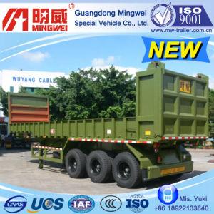 38cbm/10m/CCC/ISO/ 3 Axles Box-Type-Low-Wall Tipper Semi Trailer