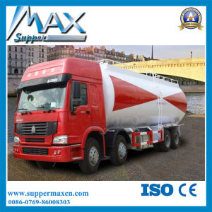 HOWO Concrete Cement Transport Truck Coal Ash Lime Powder and Mineral Flour Tank Truck pictures & photos