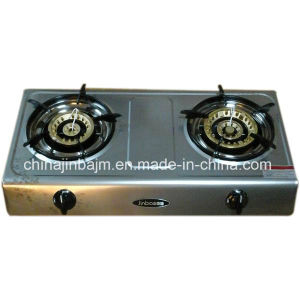2 Burner Patterned Stainless Steel Gas Cooker pictures & photos