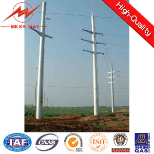 69kv Philippine Nea 45FT Steel Tubular Pole for Transmission Line pictures & photos