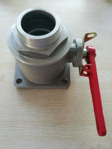 Square Flange One Way Ball Valve External Thread Male Ball Valve pictures & photos