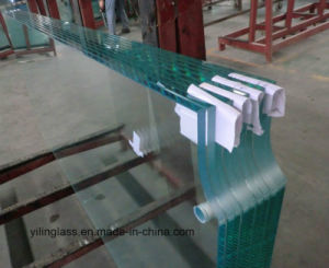 Safety Architectural Glass Door with Slot or Notch Process pictures & photos