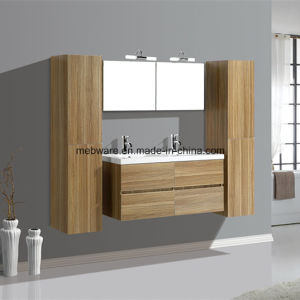 Popular MDF Wall Bathroom Vanities with Ceramic Basin pictures & photos