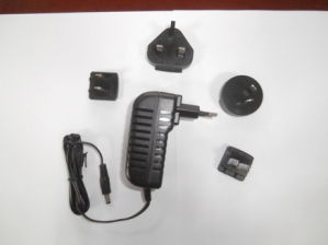 24W 24V 1A Interchangeable-Plug Power Adapter with Ce UL Certificate
