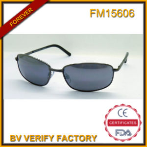 FM15606 Fashionable High Quality Promotional Metal Sunglasses with Blue Lens pictures & photos