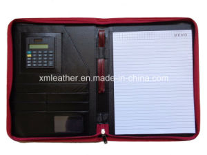 Senior Personal Leather Portfolio Organizer with Strap pictures & photos