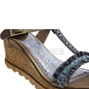 Ladies Fashion High Heel Sandal with Braided Strap Upper pictures & photos