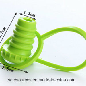 The Silicone Bottle Stoppers, Green Red Wine Stopper pictures & photos