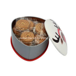OEM Series Matting Christmas Tin Can for Packing Food (T001-V8) pictures & photos