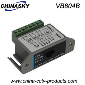 4CH Passive CCTV Video Balun with Ce Certification (VB804B) pictures & photos