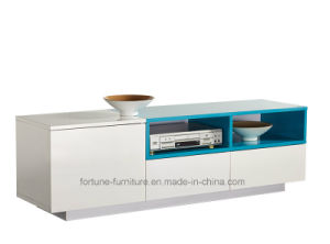 Modern Wooden UV High Gloss TV Cabinet with Two Drawers and One Door (Sea 202) pictures & photos