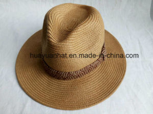90% Paper 10% Polyester with Brown Color Leisure Style Safari Hats