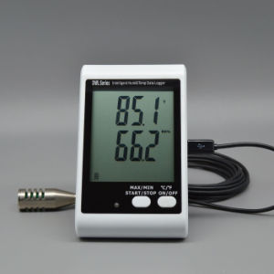 LCD Display Temperature Humidity Data Logger Recorder with Probe pictures & photos