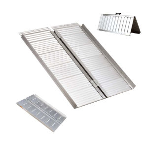 Multi-Folded Portable Wheelchair Aluminum Ramp for The Disabled pictures & photos