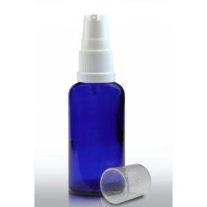 50ml Cobalt Blue Cosmetics Glass Bottle with Lotion Pump