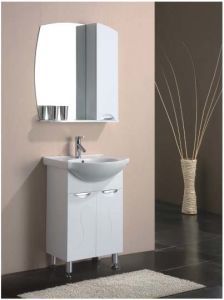 Floor Standing Gloss Painting MDF Bathroom Vanity with Mirror pictures & photos
