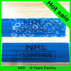 Blue Color Security Void Tape pictures & photos
