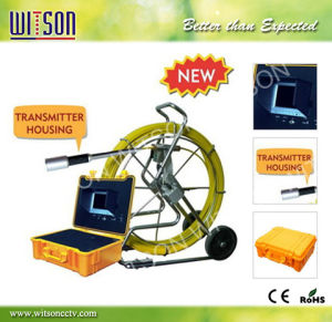 Witson Industrial Pipe Inspection Camera with Transmitter 120/60m Cable pictures & photos