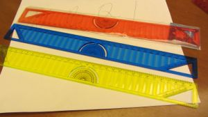 Xf-1101 Office Stationery Plastic Ruler in 30cm