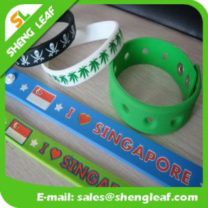 Cheap Custom Logo Silicone Rubber Wristbands pictures & photos