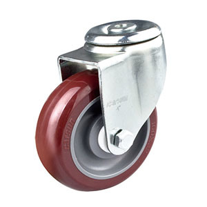 4 Inch Middle Duty Swivel PU Wheel Caster (hollow riveted) pictures & photos