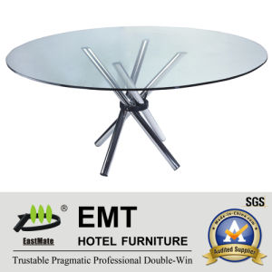 Futuramic Hotel Furniture Restaurant Furniture Glass Dining Table (EMT-FT608) pictures & photos