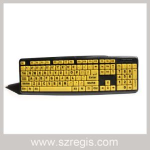 Large Alphanumeric Standard Wired USB Computer Keyboard for The Elderly pictures & photos