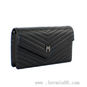 Hot Selling Stitching Top-Layer Leather Envelope Wallet (HW250006)