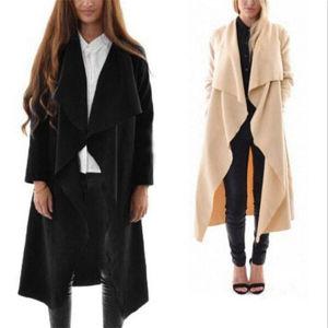 New Style Europe Irregular Stitching Yards Women Windbreaker Coat (50220) pictures & photos