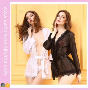 Plus Size Hot Sexy Sleepwear Hot Girls Sexy Black Babydoll Lingerie pictures & photos