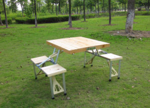 Aluminum Folding Table with Chair (etc-150) pictures & photos