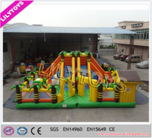 Hottest Happy Hop Inflatable Jungle Park for Garden Park