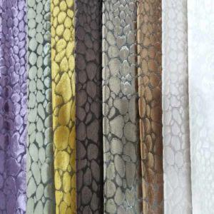 Textile Polyester Upholstery Woven Cut Velvet Sofa Fabric