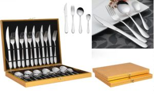24 Piece Stainless Steel Tableware Cutlery Flatware Set (QW-0779) pictures & photos